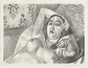 HENRI MATISSE - Le Repos du Modele - original lithograph on japon paper - 10 7/8 x 14 1/2 in.