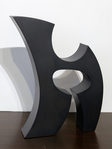 ED DEAN - Rune (Black) - powder coated steel - 20 1/2 x 16 3/4 x 3 in.