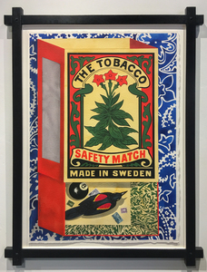 DAVID WHARTON - Matchbox: The Tobacco Safety Match - watercolor on paper - 29 1/4 x 20 1/2 in.