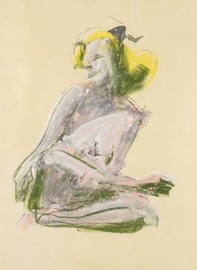 JOHN ALTOON-Untitled (Kneeling Nude)