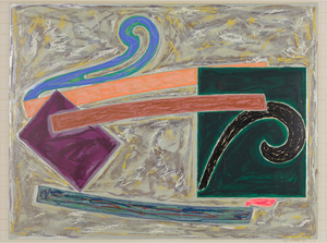 FRANK STELLA - Inaccessible Island Rail - offset lithograph and screenprint in colors - 34 x 46 in.