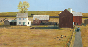 JOHN PHILIP FALTER - Spring Light - tempera on board - 22 x 40 in.