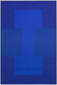 Title: Untitled (Blue-Purple Painting) , Date: 1952 , Size: 36 x 24 in. , Medium: oil on canvas