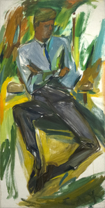 Title: John F. Kennedy , Date: 1963 , Size: 96 x 48 in. , Medium: oil on canvas