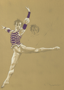 JAMIE WYETH - Nureyev - color lithograph - 34 x 24 in.
