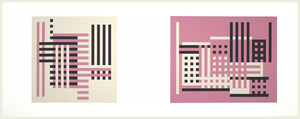 JOSEF ALBERS - Formulation: Articulation - screenprint - left: 11 1/4 x 11 1/2 in. right: 11 1/8 x 14 1/8 in.