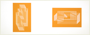 JOSEF ALBERS - Formulation: Articulation - screenprint - left: 12 3/4 x 8 1/4 in. right: 8 1/2 x 13 in.