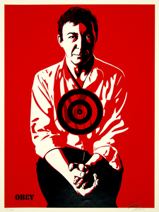 SHEPARD FAIREY - Jasper Johns (Red) - screenprint on paper - 24 x 18 in.