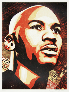 SHEPARD FAIREY - Jordan Hall of Fame Portrait - screenprint on paper - 24 x 18 in.