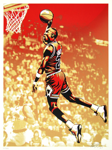 SHEPARD FAIREY - Jordan Chicago Bulls - screenprint on paper - 24 x 18 in.