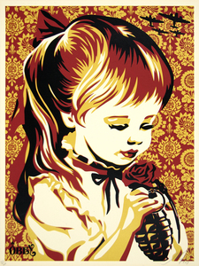 SHEPARD FAIREY - War By Numbers (Red) - screenprint on paper - 24 x 18 in.