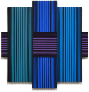 RICHARD ANUSZKIEWICZ - Translumina - acrylic on wood - 48 x 48 in.