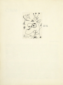 JOAN MIRO - L'Aigrette (The Plumed Hat) - original etching on paper - plate size: 4 3/4 x 3 9/16 in.