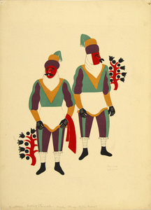 CARLOS MERIDA - O Cotoxco, State of Tlaxcala - original lithograph in colors - 12 1/2 x 17 1/2 in.