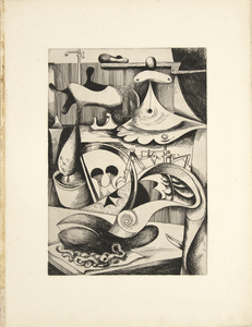 KURT SELIGMANN - L'Opere (the Patient) - original etching - 19 1/2 x 14 in.
