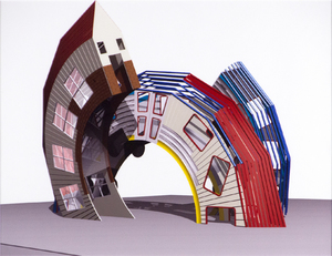 DENNIS OPPENHEIM-Sculpture Installation Photograph
