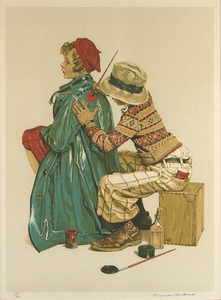 NORMAN ROCKWELL - She's My Baby - lithograph - 27 x 19 3/4 in.