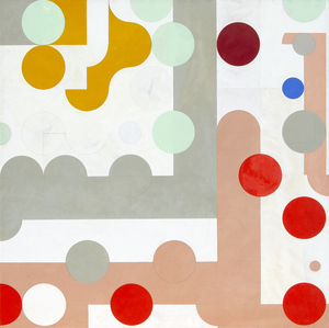 HASSEL SMITH - Untitled - acrylic on canvas - 67 7/8 x 68 in.