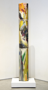 ELAINE DE KOONING - Untitled (Totem Pole) - oil on canvas stretched over cardboard cylinders - 97 x 12 3/8 x 12 3/8 in.