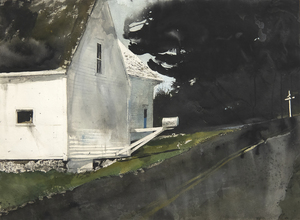ANDREW WYETH - Star Route - watercolor on paper - 21 1/4 x 29 in.