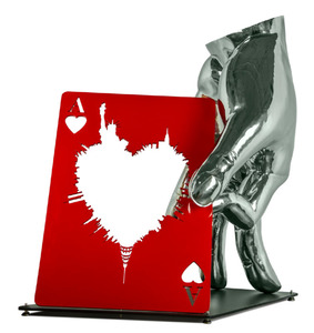 The Merger - Carte de Triunfo - stainless steel and aluminum - 46 x 40 x 23 1/2 in.