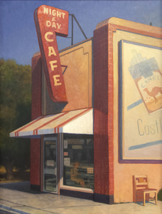 WILLIAM GLEN CROOKS - Night and Day Café - oil on canvas - 48 x 36 in.