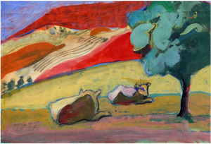 WILLIAM THEOPHILUS BROWN-Untitled (2 Cows)