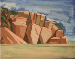 WILLIAM THEOPHILUS BROWN - Untitled (Landscape with Rocks) - oil on board - 11 x 14 in.