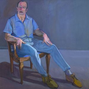 William Theophilus Brown, along with his partner Paul Wonner, is one of the most celebrated artists of the Bay Area Figurative movement, along with David Park, Elmer Bischoff, and Richard Diebenkorn. The inspiration to take chances and to try new mediums is evident in Brown's works including his fearless examination of nude forms, bold colors, his shifts from sensual form to precise architectural landscapes, and even his experimentation during his last decade with collage and pure abstraction. This painting is a great example of Brown's draftsmanship in its careful but bright study of the seated figure. Brown ran through many artistic circles and included among his friends, Samuel Barber, Igor Stravinski, Paul Hindemith, André Previn, Mary Sarton, Christopher Isherwood, and Don Bacardy. Heather James is proud to partner with the Crocker Art Museum to represent the estate of Paul Wonner and William Theophilus Brown.