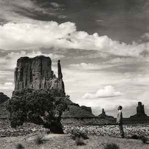 TSENG KWONG CHI - Monument Valley, Arizona - silver gelatin print - 16 x 20 in.