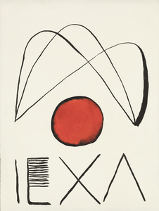 ALEXANDER CALDER - El Circulo de Piedra - gouache and ink on paper - 20 1/2 x 15 1/2 in.