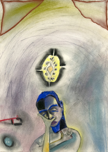 FRANCESCO CLEMENTE - Untitled - pastel on paper - 26  x 18 3/4 in.