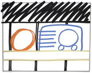 TOM WESSELMANN - Radio Edition - enamel on cut-out steel - 29 1/2 x 37 1/2 in.