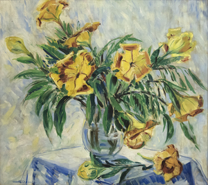 META GEHRING CRESSEY - Yellow Lilies - oil on canvas - 36 x 40 in.