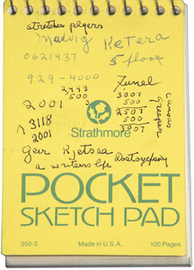 IRVING NORMAN - Pocket Sketch Pad - graphite on paper - 5 1/2 x 3 1/2 in.