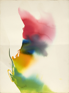 PAUL JENKINS - Phenomena The Edge of Plume - watercolor on paper - 30 1/4 x 22 1/4 in.