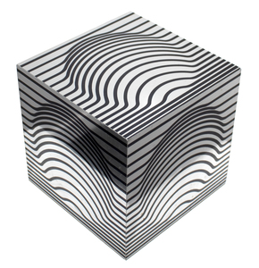 VICTOR VASARELY - Geometric Composition - lucite - 27 1/2 x 27 1/2 x 27 1/2 in.