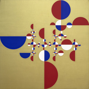 GABRIEL OROZCO - Samurai Tree - Invariant Gold 2 - acrylic on canvas - 47 1/4 x 47 1/4 in.