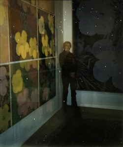 ANDY WARHOL-Self Portrait at 'Flowers' Exhibition