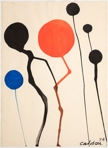 ALEXANDER CALDER - Cercles - gouache and ink on paper - 30 3/4 x 22 1/2 in.