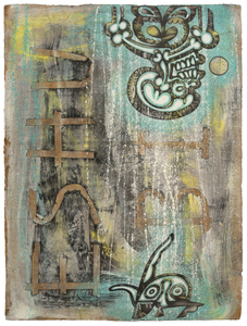 CARLOS LUNA - Untitled - mixed media on paper - 30 x 22 1/2 in.