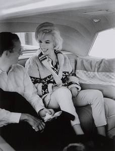 LAWRENCE SCHILLER - Marilyn Monroe and Wally Cox (in car) - Silver gelatin photograph - 24 x 20 in.