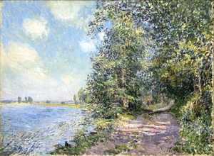 ALFRED SISLEY - Apres-midi d'aout a Veneux - oil on canvas - 21 1/4 x 28 3/4 in.